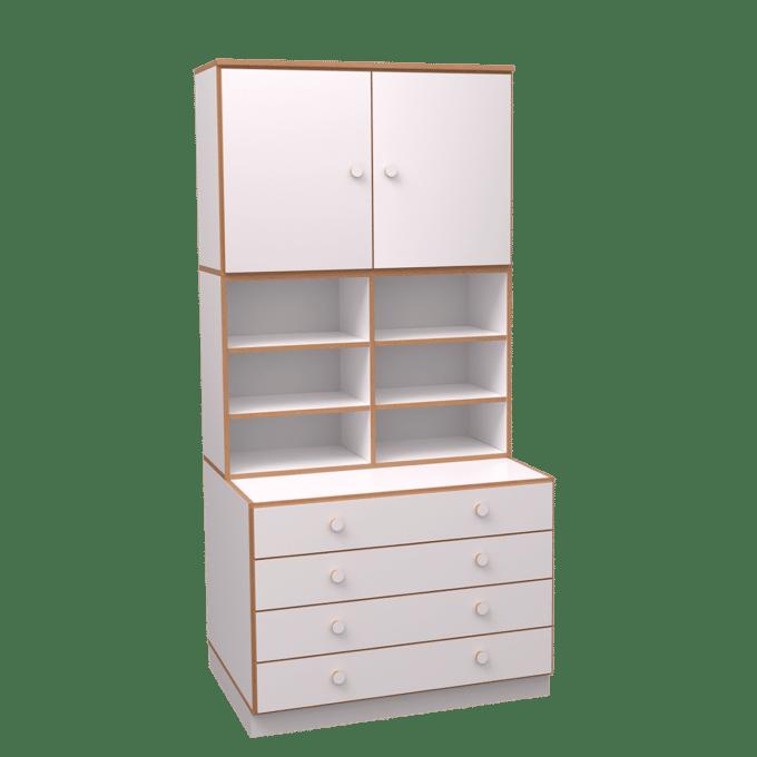 De Breuyn kombinierter Hochschrank Schubladen 1