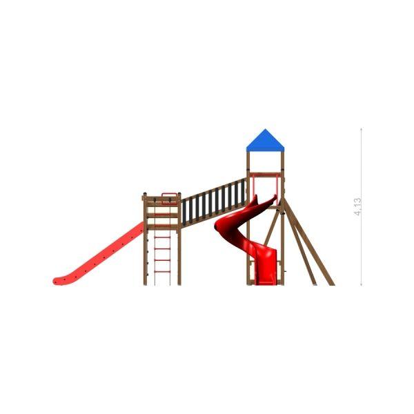 Lars Laj Spielanlage Twister mit Schaukel 3
