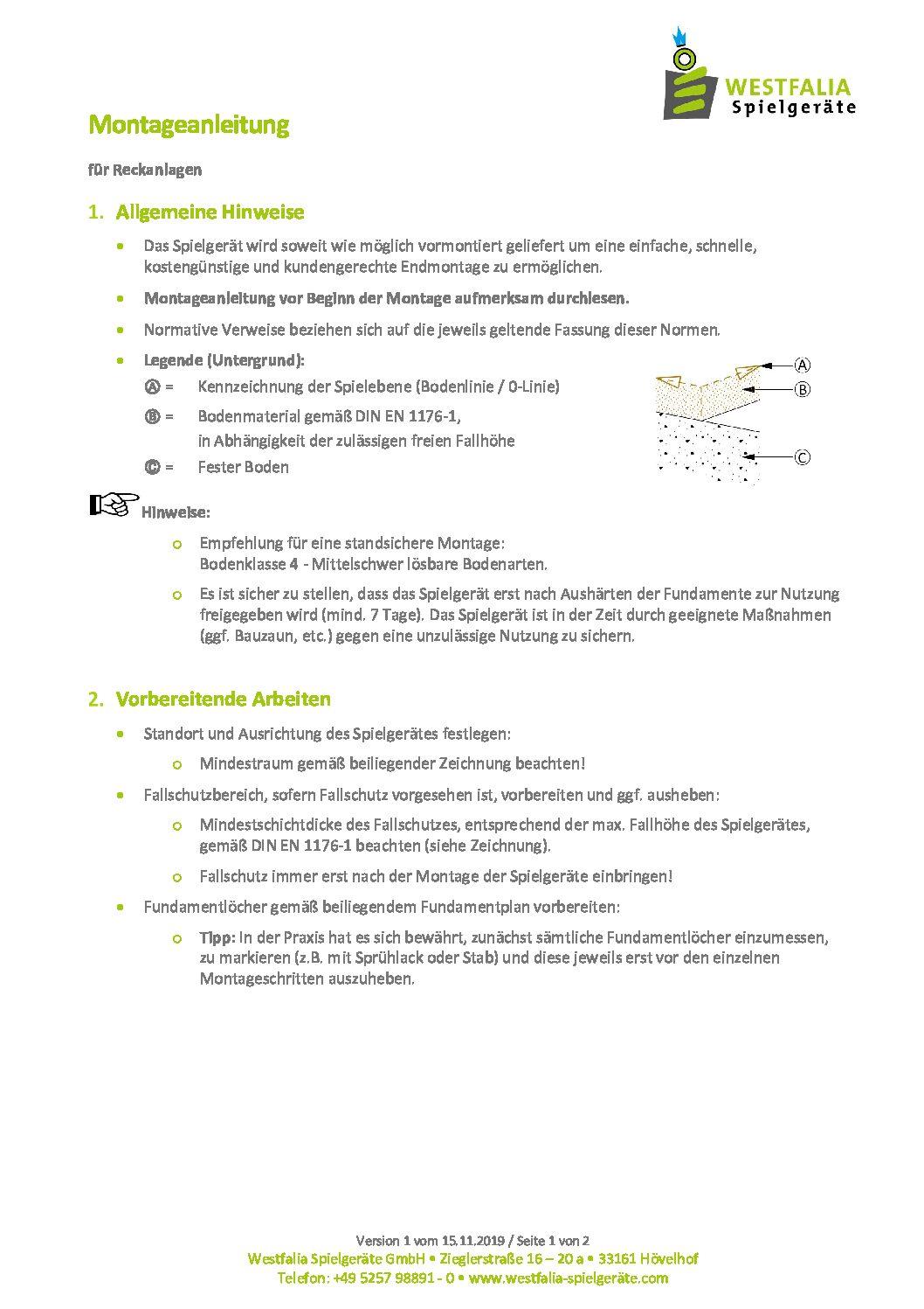 WESTFALIA Sechsfach-Reck 5