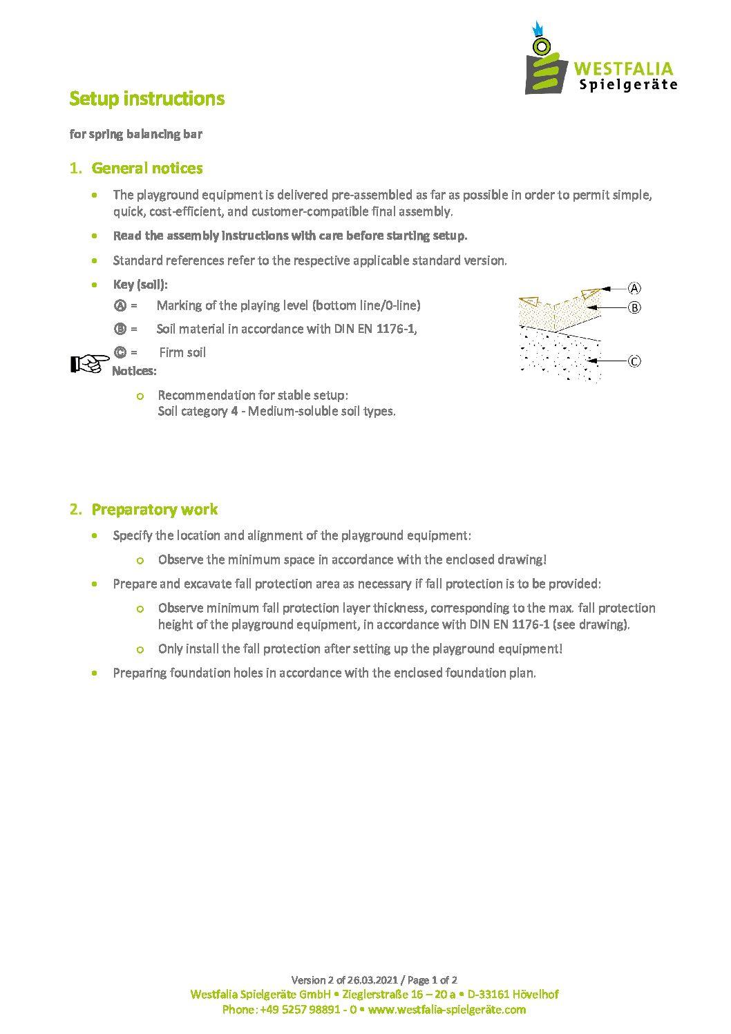 WESTFALIA Federbalancierbalken 6