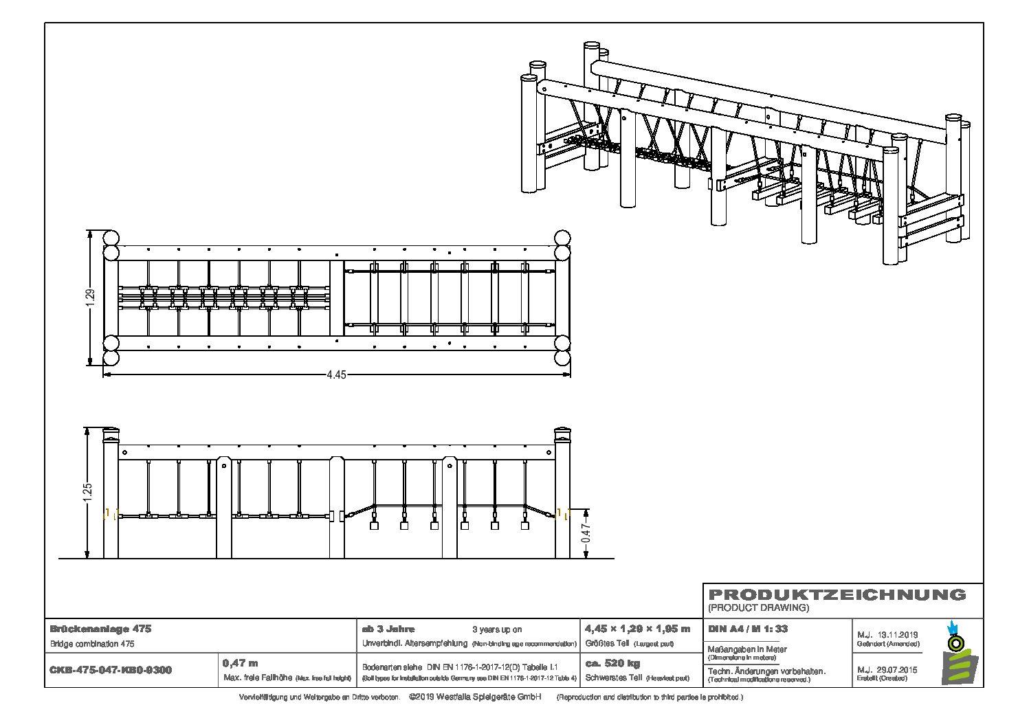 WESTFALIA Balancier-Brückenanlage 475 3