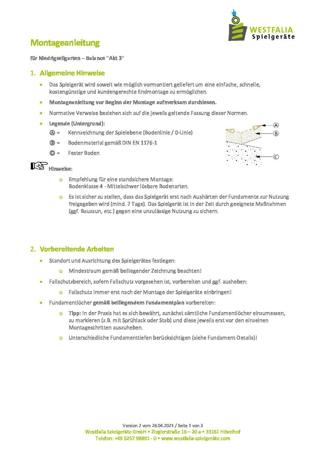 """WESTFALIA Balancierkombination """"Akt 3"""" 6"""