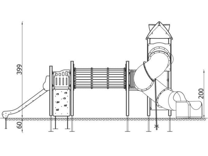 Spielturm-Anlage Orbis 11367 von Novum Spielgeräte 3